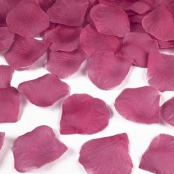PŁATKI róż do dekoracji CIEMNORÓŻOWE 100szt