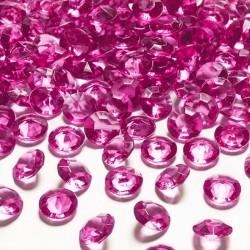 DIAMENCIKI dekoracyjne CIEMNORÓŻOWE 100szt