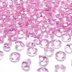 DIAMENCIKI dekoracyjne JASNORÓŻOWE 100szt