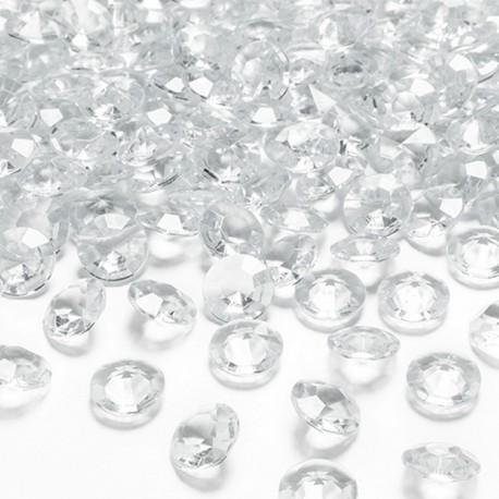 DIAMENCIKI dekoracyjne BEZBARWNE 100szt