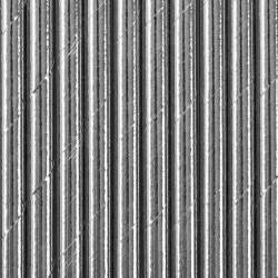 SŁOMKI papierowe metalizowane SREBRNE 10szt