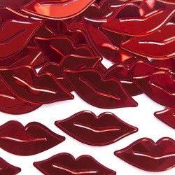 KONFETTI metalizowane Red Lips