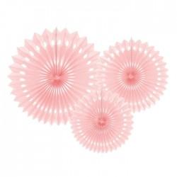 ROZETY dekoracyjne ażurowe 3szt ALOHA PINK