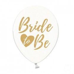 BALONY Bride to Be złote 30cm 6szt