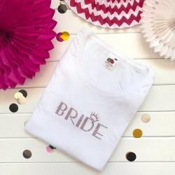 KOSZULKA Bride kryształki Swarovskiego BIAŁA