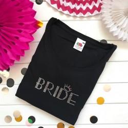 KOSZULKA Bride kryształki Swarovskiego CZARNA