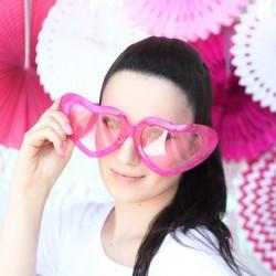 Okulary różowe Mega Serca