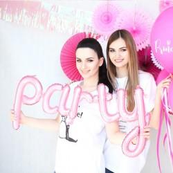 BALON foliowy Pink Party