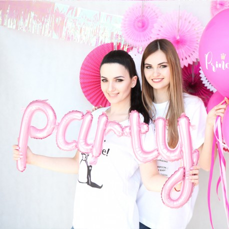 BALON foliowy Pink Party