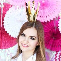 Korona Złota Princess 14cm