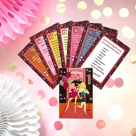 KARTY z zadaniami na domowy wieczór panieński