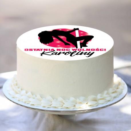 OPŁATEK na tort personalizowany Pole Dance Ø20cm