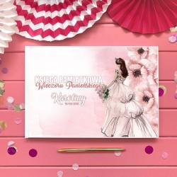 KSIĘGA PAMIĄTKOWA Wieczoru Panieńskiego French Bride BIAŁE/CZARNE KARTKI
