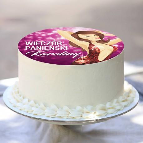 OPŁATEK na tort personalizowany Sexy Purple Ø20cm