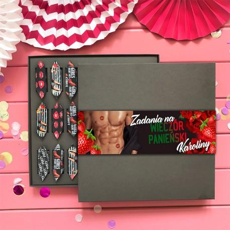 BOMBONIERKA Z KRÓWKAMI zadania na wieczór panieński Strawberries HIT!