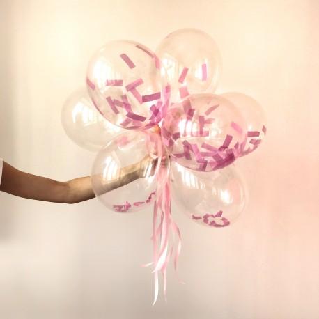 Balony transparentne z konfetti 24cm 10szt