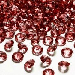 DIAMENCIKI dekoracyjne CZERWONE 100szt