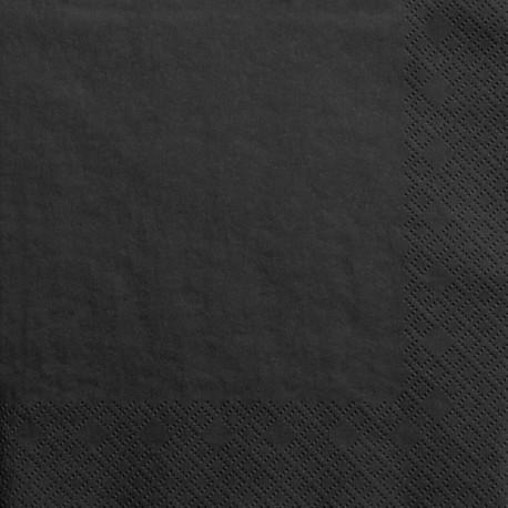 SERWETKI papierowe 33x33cm 20szt CZARNE