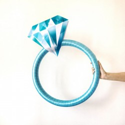 PIERŚCIONEK dekoracyjny do fotek Blue Diamond