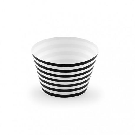 FOREMKI na muffinki w biało-czarne paski 6szt