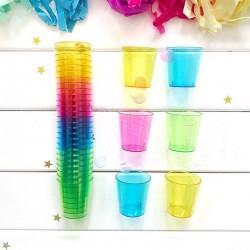 KIELISZKI do wódki kolorowe 32szt