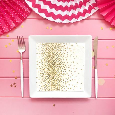 SERWETKI papierowe z nadrukiem Confetti Gold 33x33cm 20szt