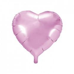 BALON foliowy Serce 45cm JASNORÓŻOWY