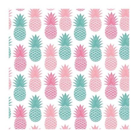Serwetki papierowe Kolorowe Ananasy 33x33cm 20szt