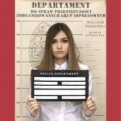 PLAKAT z tabliczką do zdjęć POLICE DEPARTMENT