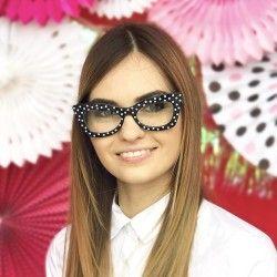Okulary Retro w groszki