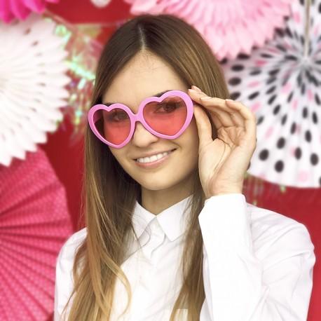 Okulary różowe serca do sesji