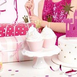 PIKERY na muffinki Princess Korony 6szt