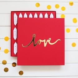 BOMBONIERKA z personalizowanymi krówkami LOVE Prezent dla Panny Młodej