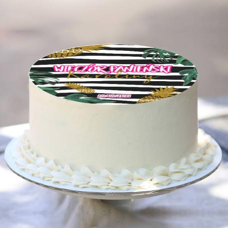 OPŁATEK na tort personalizowany Ananas Ø20cm