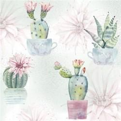 Serwetki papierowe Kaktusy 33x33cm 20szt