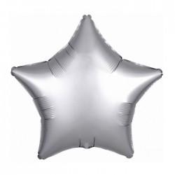 BALON foliowy Gwiazda 43cm SREBRNY LUX