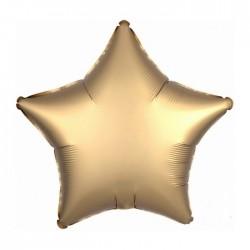 BALON foliowy Gwiazda 43cm ZŁOTY LUX