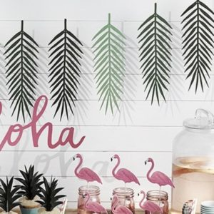 Girlanda z papieru w kształcie liści palmowych będzie piękną ozdobą na wieczór panieński w domu!